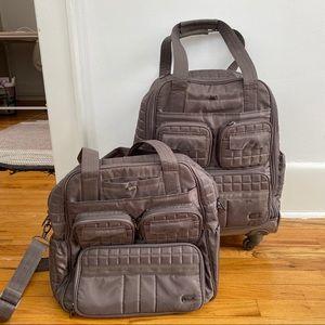 Lug Puddle Jumper Wheelie Army Green Bag Luggage
